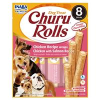 Inaba Churu Rolls Chicken with Salmon Recipe for Dogs 8 Pk. I023095