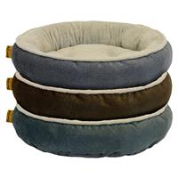 DMC Good Dog Premium Tufted Round Bolster Assorted Pet Bed 24 in. I023246