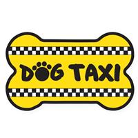 Dog Speak Dog Taxi Bone Shaped Magnet I023824