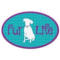 Dog Speak Fur Life Dog Oval Shaped Magnet I023842