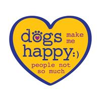 Dog Speak Dogs Make Me Happy People Not So Much Decal I023854