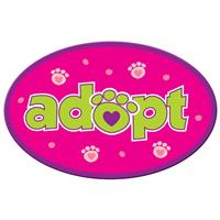Dog Speak Adopt Oval Shaped Magnet I023856