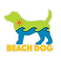Dog Speak Beach Dog Decal I023869