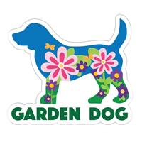 Dog Speak Garden Dog Decal I023880