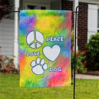 Dog Speak Peace Love Dog Garden Flag I023895