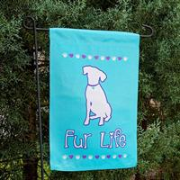 Dog Speak Fur Life Garden Flag  I023900