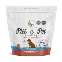 Green Coast Pet Pill-A-Pet moldable Pill Wrap Bacon Flavor with Probiotic 60 ct. I020508