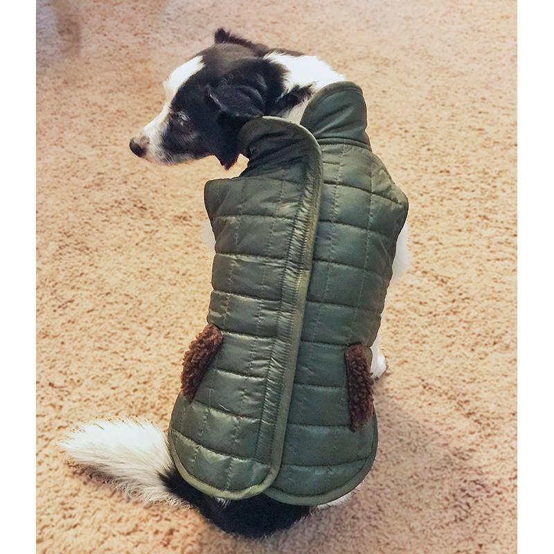 Ethical Products Fashion Pet Reversible Ski Jacket Olive Extra Small