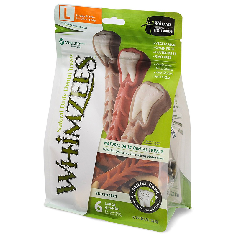 6ct Whimzees Brushzees Large Dental Dog Treat 6 ct 465514