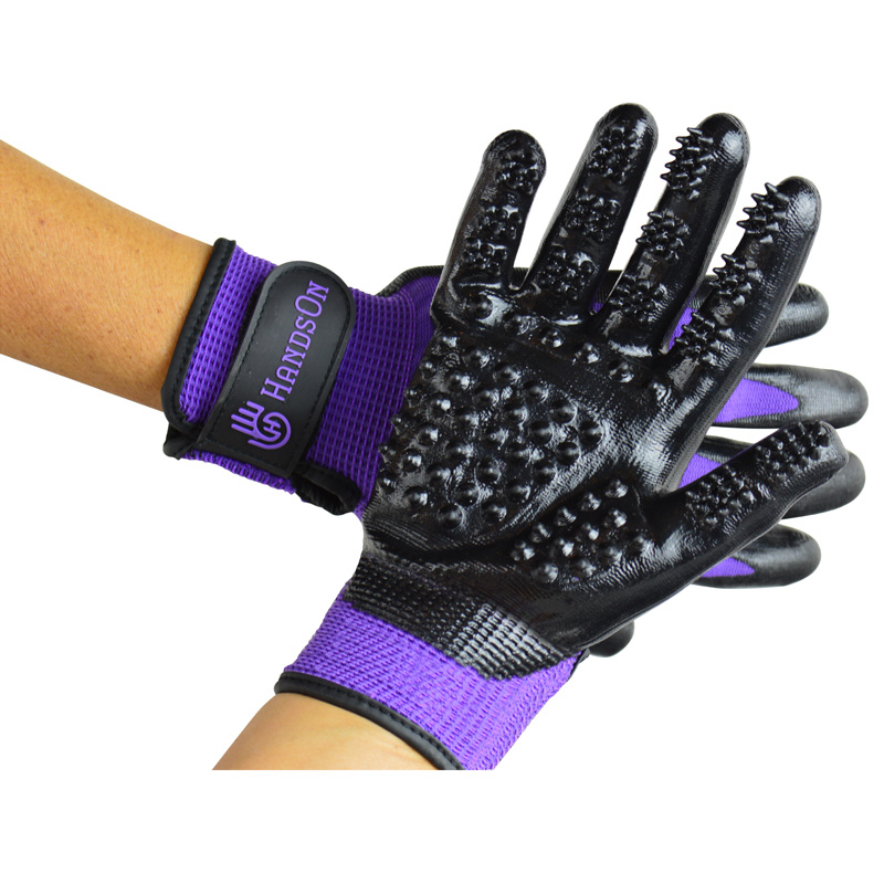 Hands On Grooming Gloves Purple Junior