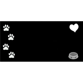 Granite Memorial Stone Dog 3/8 in x6 in x12 in