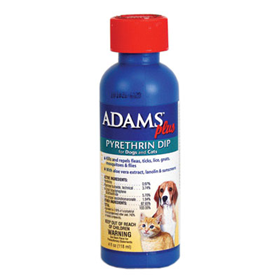Adam's Plus Flea & Tick Dip with Pyrethrin 4 oz. A11741