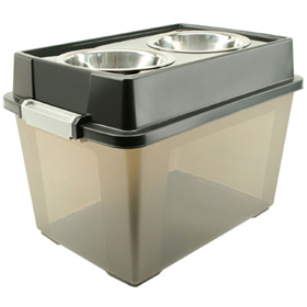"Iris® Elevated Feeders with Airtight Storage 21.5"" x 14.25"" x 14.75"" 14184"