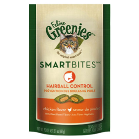 Feline Greenies® SMARTBITES® Cat Treats Chicken Hairball Control I001318