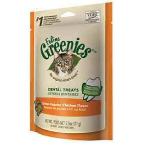 Feline Greenies® Dental Treats Oven Roasted Chicken I001370e