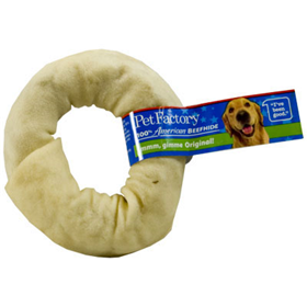 "Pet Factory 100% American Beefhide Donut Dog Chew, 3-4"" I002552"