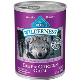 Blue Buffalo BLUE™ Wilderness™ Beef & Chicken Grill og Food, 12.5 oz. I003082