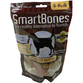SmartBones® Vegetable & Chicken Chews for Dogs Peanut Butter I004359
