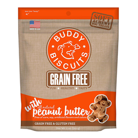 Cloud Star® Grain Free Buddy Biscuits™ Dog Treats Homestyle Peanut Butter 5 oz. I002337