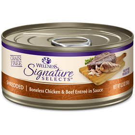 Wellness CORE Signature Selects Shredded Chicken & Beef Cat Food 2.8oz Can I005474