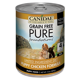 CANIDAE® Grain Free PURE Foundations Canned Puppy Formula Dog Food 13 oz. I006767