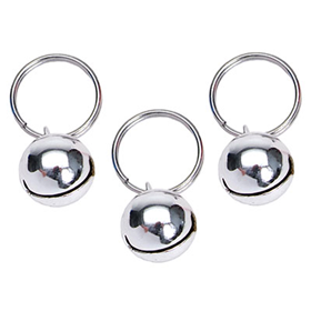 Coastal® Round Pet Bells 3 Pack Silver  I009405