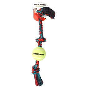 "Mammoth® Flossy Chews® Rope Tug 36"" with 6"" Tennis Ball I010831"