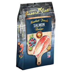 Fussie Cat® Market Fresh Salmon Recipe Cat Food I011317b