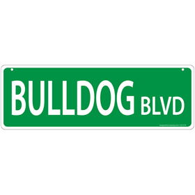 Bulldog Blvd Street Sign  I011436