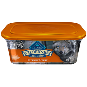 Blue Buffalo Wilderness Trail Tubs Turkey Stew Dog Food 8oz.