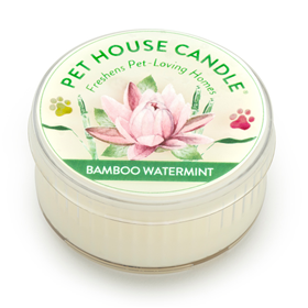 Pet House Mini Candle Bamboo Watermint I014230