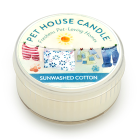 Pet House Mini Candle Sunwashed Cotton I014234