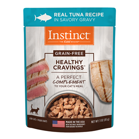 Nature's Variety Healthy Cravings Grain-Free Real Tuna Recipe Wet Cat Food Topper 3-oz pouch I014939