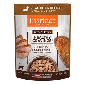 Variety Healthy Cravings Grain-Free Real Duck Recipe Wet Cat Food Topper 3-oz pouch I014940