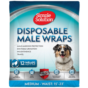 Simple Solution® Disposable Male Wrap MD 12pk I016204