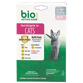 Bio Spot Active Care Flea Amp Tick Spot On For Cats Care A