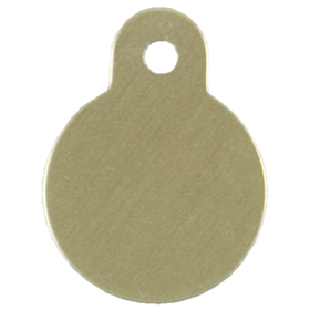 Personalized Small Round Gold Pet ID Tag 49695