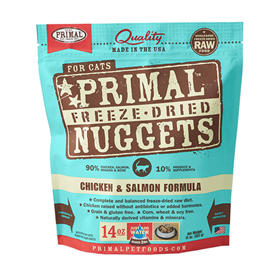 Primal Freeze-Dried Nuggets Chicken & Salmon Formula Cat Food  I002833c