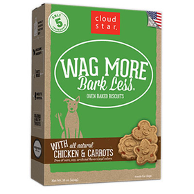 Cloud Star® Wag More Bark Less® Oven-Baked Biscuits with Chicken and Carrots I008310b