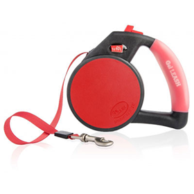 Wigzi Retractable Gel Leash Small Red  I008992e