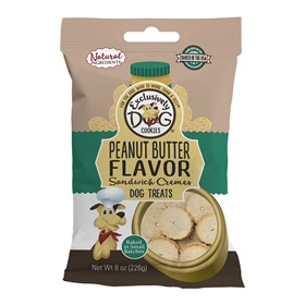 Exclusively Dog® Sandwich Cookies Peanut Butter 8 oz. 26324