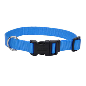 "Coastal Adjustable Dog Collar with Plastic Buckle Blue Lagoon 3/4"" x 14""-20"" I006279"