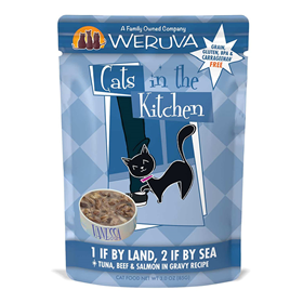 Weruva Cats in the Kitchen 1 If By Land 2 If By Sea Pouch 3 oz. 99934