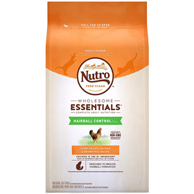 Nutro Wholesome Essentials Hairball Control Adult Cat Food Chicken & Whole Brown Rice Recipe 14 lbs. I003603