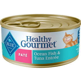 Blue Buffalo Healthy Gourmet Pate Indoor Salmon Entrée for Cats 5.5 oz.  I006756