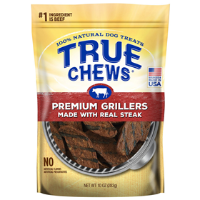 Tyson True Chews Premium Grillers Made With Real Steak Dog Treat 3.5 oz. I008039