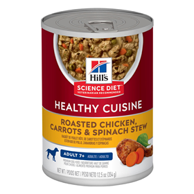 Hill's® Science Diet® Adult 7+ Healthy Cuisine Roasted Chicken, Carrots & Spinach Stew 12.5 oz. I010861