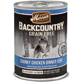 Merrick Backcountry Grain Free Chunky Chicken Dinner in Gravy 12.7oz I011250