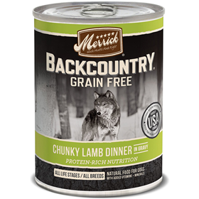 Merrick Backcountry Grain Free Chunky Lamb Dinner in Gravy 12.7oz I011252