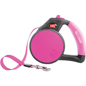 Wigzi Small Pink Gel Leash Retractable I011482e